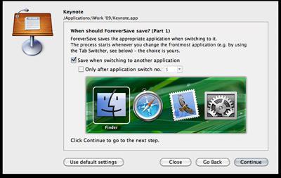 ForeverSave 1.1 für Mac OS X.