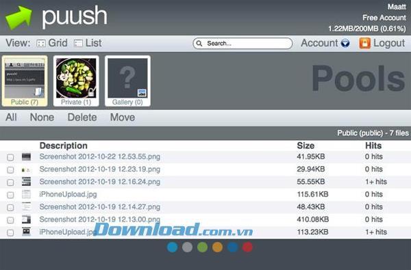 Puush für Mac r62 - Teilen Sie Screenshots Mac