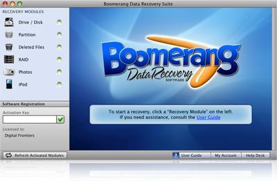Boomerang Data Recovery für Mac 3.0.5 - Datenwiederherstellung