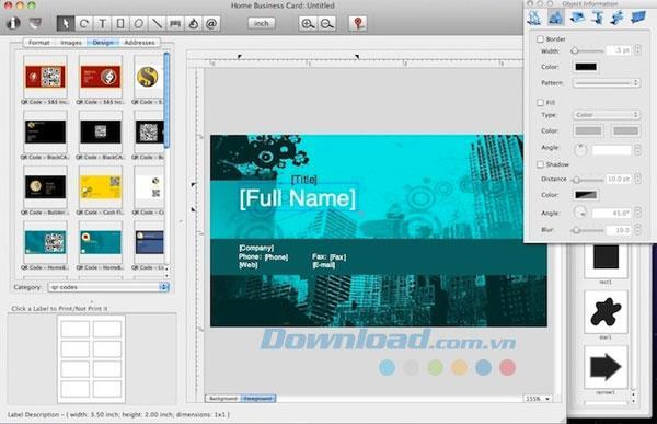 Home Visitenkarte für Mac 1.4.7 - Entwerfen Sie Visitenkarten einfach auf dem Mac