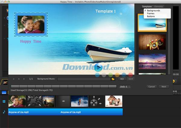 Voilabits PhotoSlideshowMaker für Mac 2.2.2 - Erstellen Sie Foto-Diashows auf Ihrem Mac