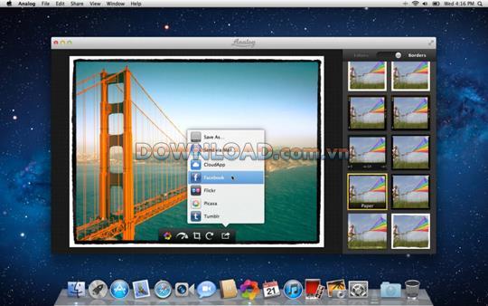 Analog für Mac - Fotobearbeitungsprogramm für Mac