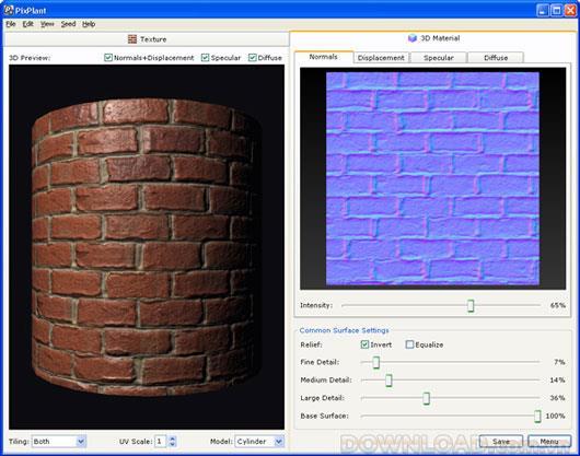 PixPlant für Mac OS X - 3D-Modellierungssoftware