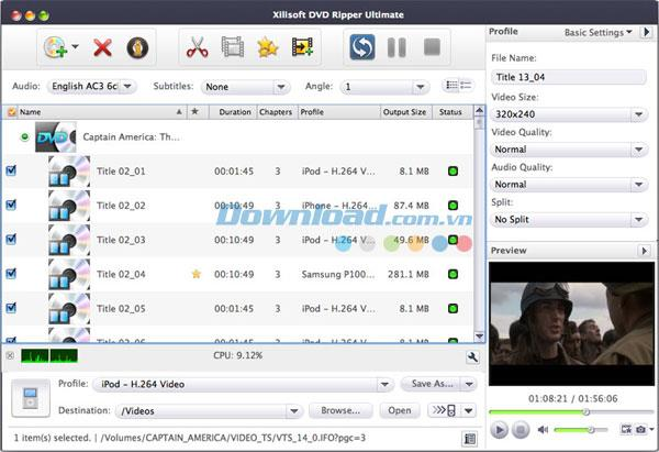 Xilisoft Media Toolkit Ultimate für Mac 6.6 - Konvertieren Sie Videos und brennen Sie DVDs auf Mac