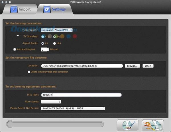 Kvisoft DVD Creator für Mac 1.5 - Tool zum Brennen von Videos auf DVD