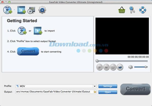 EaseFab Video Converter Ultimate für Mac 5.1.4 - Software zum Konvertieren von Videos auf einem Mac