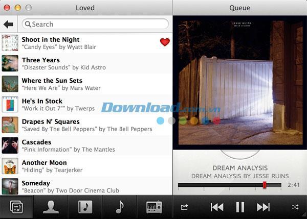 Pinna für Mac 2.1.1 - Ein kostenloser und leichter Musikplayer für Mac