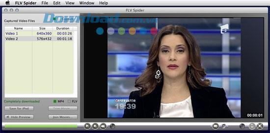 FLV Spider für Mac 3.0.3 - Speichern Sie Online-Videos für Mac und iPod