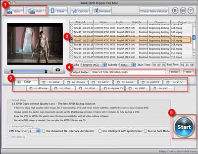 WinX DVD Ripper Kostenlos für Mac
