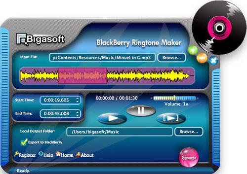 Bigasoft BlackBerry Ringtone Maker für Mac
