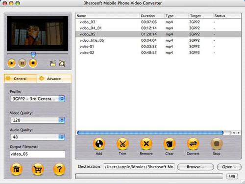 3herosoft Mobile Phone Video Converter für Mac