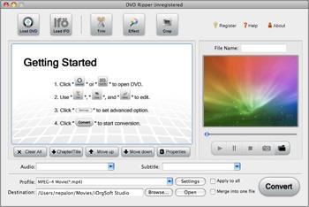 iOrgSoft DVD Ripper für Mac 4.1.3