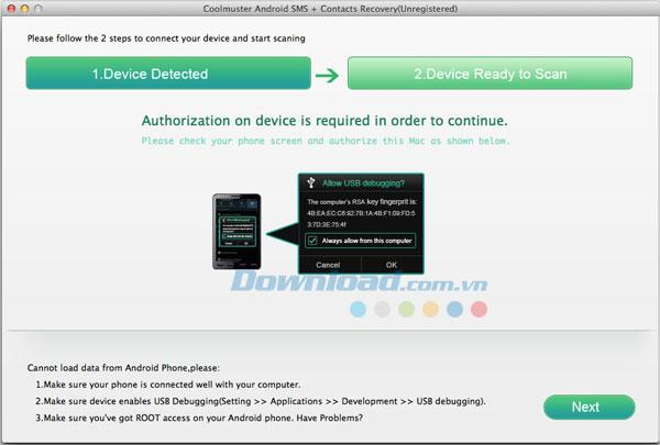 Coolmuster Android SMS + Kontakte Wiederherstellung für Mac 1.0.4 - Wiederherstellen von Android SMS & Kontakte auf Mac
