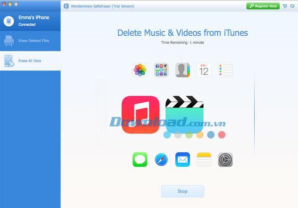 Wondershare SafeEraser für Mac 2.2 - Löschen Sie iPhone / iPad-Daten auf dem Mac
