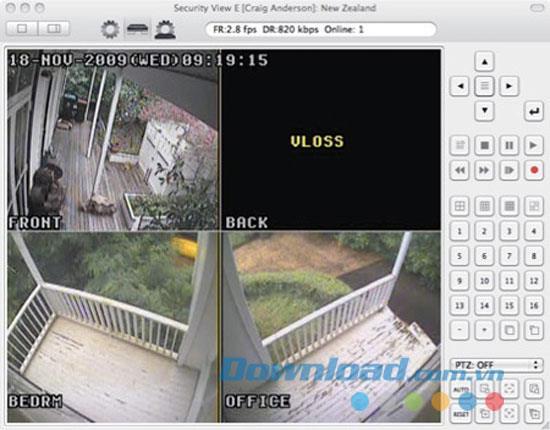 Security View E für Mac 1.2 - Kamera-Tracking-Software