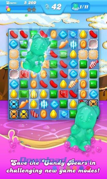 Candy Crush Soda Saga für Android 1.175.2 - Spiel, das zu süßen Süßigkeiten auf Android passt