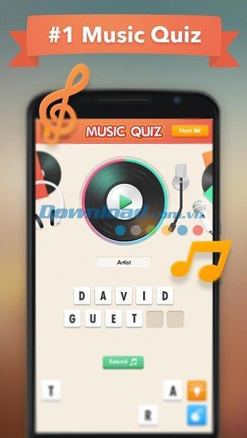 Musik-Quiz für Android 2.0.7 - Spiel, um das Lied auf Android zu erraten