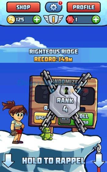 Radical Rappelling für Android 1.7.3.1312 - Volcano Swing-Spiel für Android