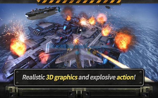 GUNSHIP BATTLE: Helicopter 3D für Android 2.5.1 - 3D-Flugzeugschießspiel für Android