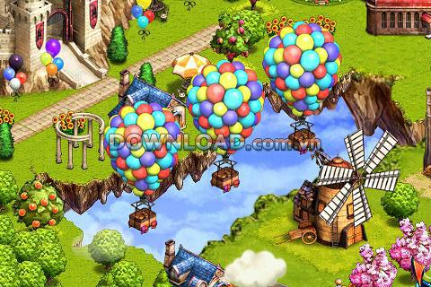 Rule the Sky für Android - Spielaufbau attraktive Insel auf Android