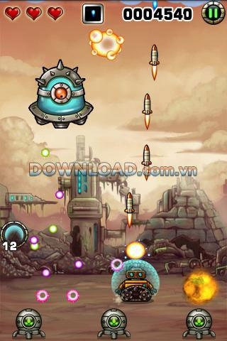 Tiny Robots for Android - Roboterschießspiel für Android