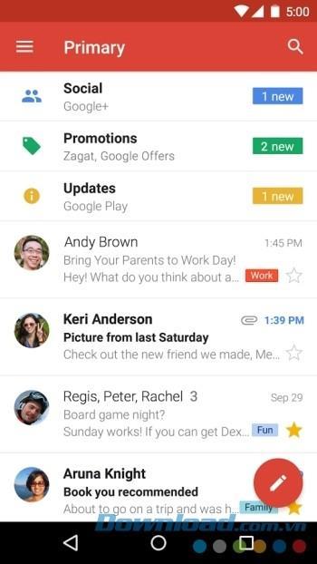 Android用Gmail-AndroidでGmailにアクセス