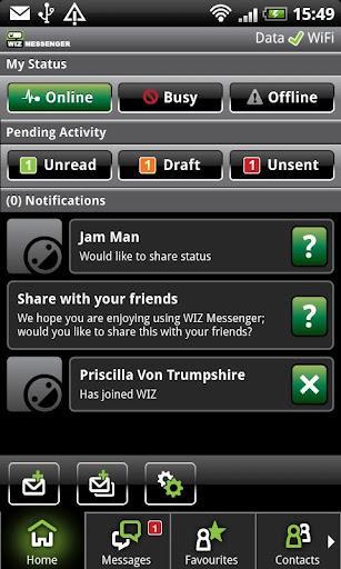WIZ Messenger forAndroid-SMSメッセージを送信するアプリケーション