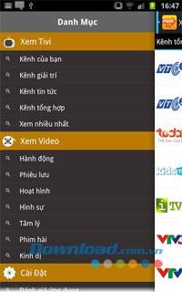 Android1.1用の高速テレビ-テレビを高速で視聴するためのアプリケーション