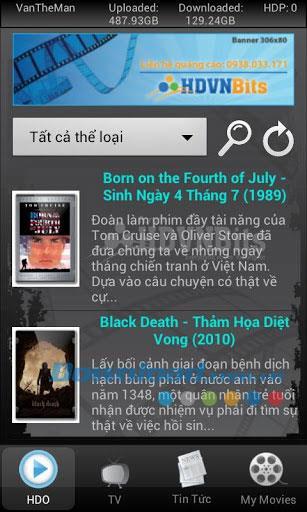 Android1.0.13用のHDVNBits-オンラインで映画を見る