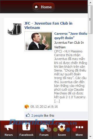 Juventus FC Vietnam für Android 1.01 - Synthetisieren Sie Nachrichten zu Juventus