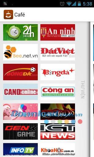 Café für Android 2.4.1 - Lesen Sie vietnamesische Nachrichten