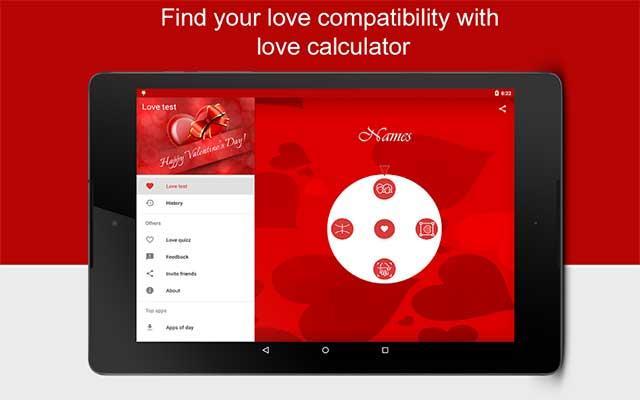 Android3.4.3の愛のテスト-非常に人気のある愛の占いアプリケーション