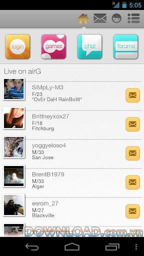 Android用airG-Android用グローバルフレンズネットワーク