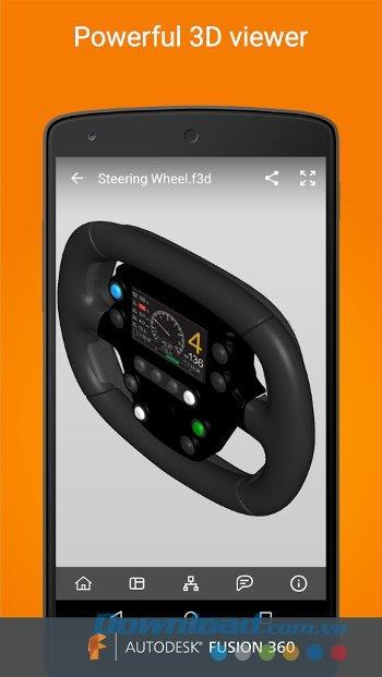 Fusion 360 für Android 1.0.1 - Anzeigen, Verwalten und Freigeben von 3D-Produkten auf Android