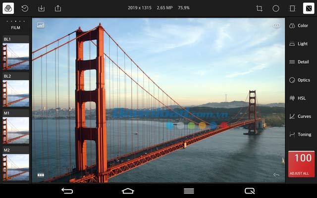 Android用Polarrフォトエディタ-Androidで写真を編集するためのツール