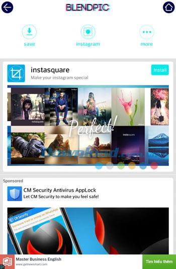 BlendPic für Android 2.31 - Fotobearbeitung mit einzigartigen Überblendungseffekten für Android
