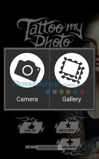 Tattoo my Photo für Android 2.32 - Anwendung zum Erstellen von Tätowierungen auf Fotos