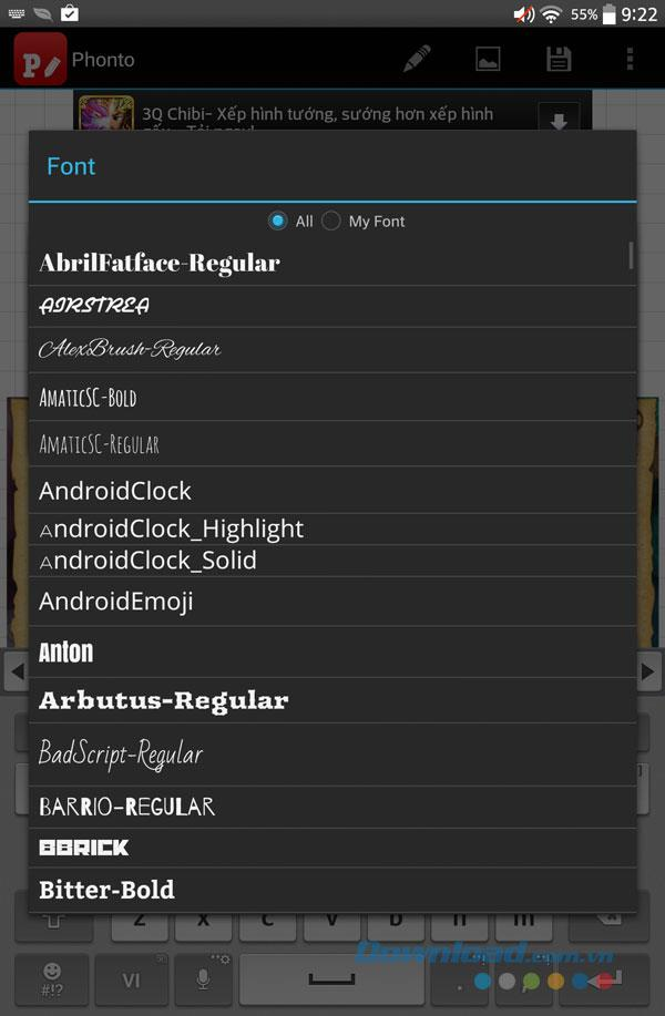 Phonto for Android1.7.68-Androidの写真にテキストを挿入