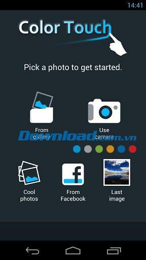 Android2.5のカラータッチ効果-モバイルでの写真編集