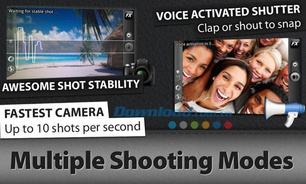Camera ZOOM FX für Android 1.0.5 - Kameraanwendung für Android