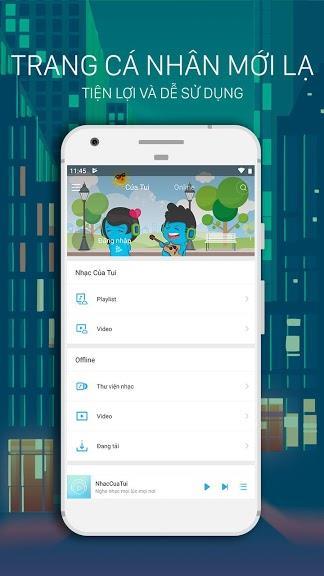 NhacCuaTui für Android 6.3.6 - Hören Sie meine Musik auf Android