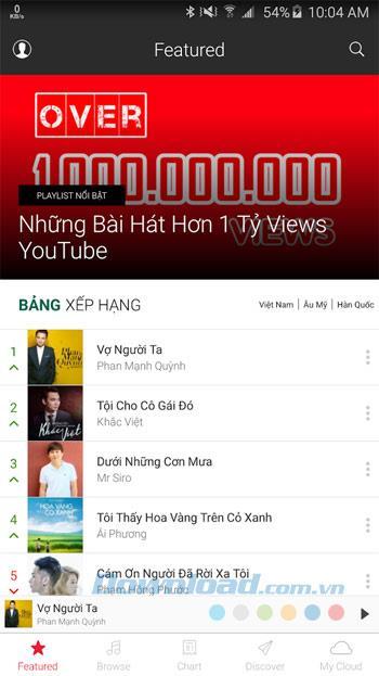 NhacSo 320 für Android 2.4.23 - MP3-Musik auf Android anhören und herunterladen