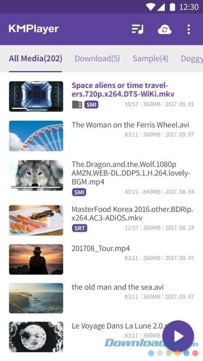 KMPlayer for Android20.04.211-Android用メディアプレーヤー