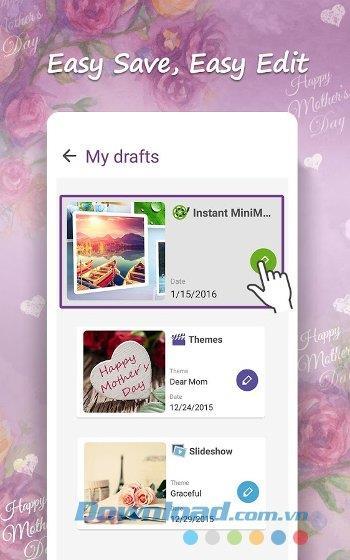 MiniMovie für Android 2.5.1.30_160420 - Erstellen Sie eine Diashow aus schönen, einfachen Fotos auf Android