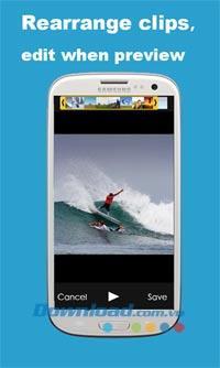 KlipMix für Android 2.4 - Erstellen und bearbeiten Sie Videos kostenlos auf Android