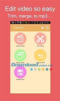 CuteCut für Android 2.2 - Kostenloses Videobearbeitungsprogramm für Android