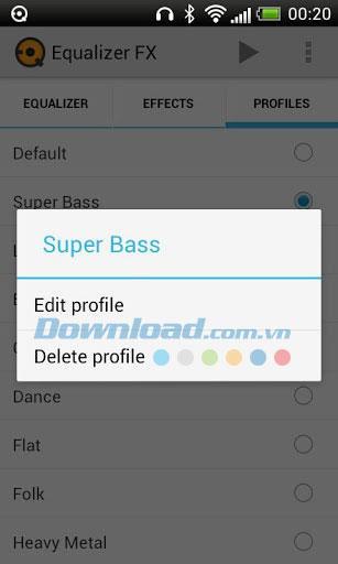 Equalizer FX für Android 1.3.1 - Audio für Android bearbeiten