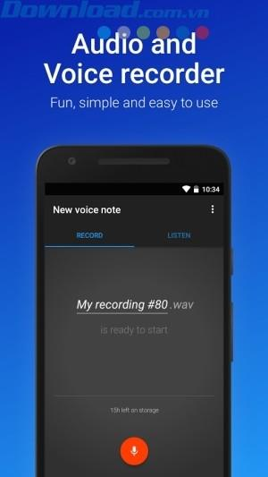 Android用のEasyVoiceRecorder-Androidのオーディオ録音アプリ