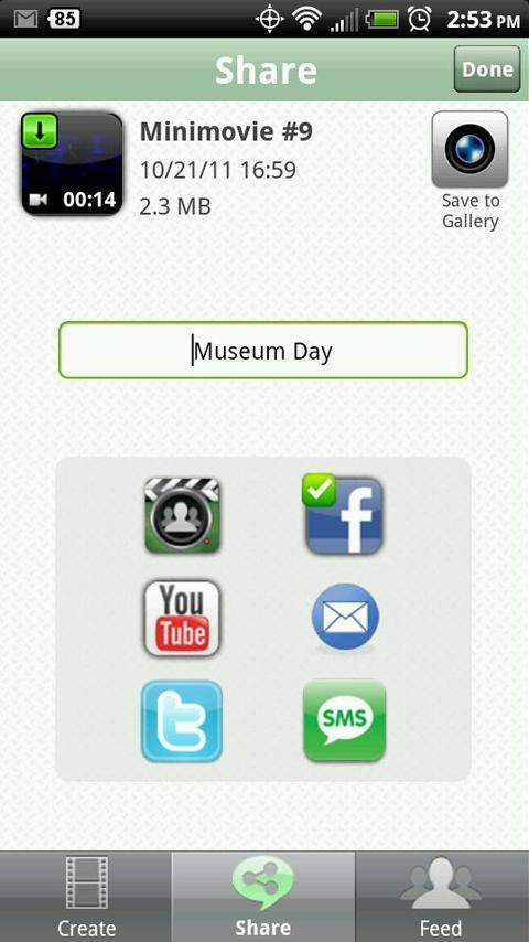 HighlightCam Social für Android - Videobearbeitung für Android