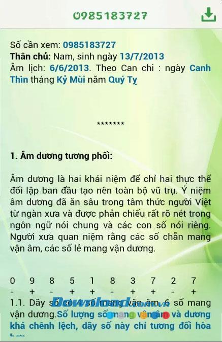 Feng Shui Sim für Android 3.0 - Siehe Horoskop Feng Shui Sim Telefon